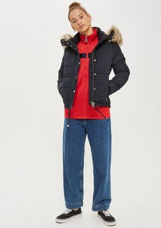 Topshop Quilted Puffer Jacket