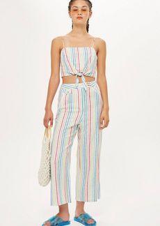 Topshop Rainbow Stripe Trousers