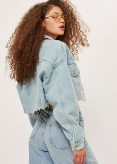 Topshop Raw Hem Cropped Denim Jacket
