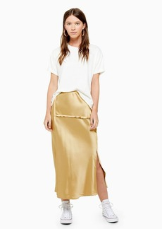 Topshop Raw Seam Bias Midi Skirt
