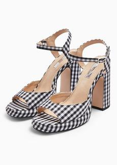 Topshop Reno S Gingham Platform Heels Sandals