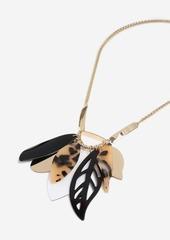 Topshop Resin Leaf Necklace
