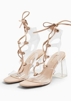 Topshop Resort Lace Up Transparent Shoes