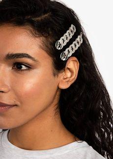 Topshop Rhinestone Chain Hair Slide Clip