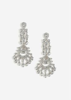Topshop Rhinestone Chandelier Drop Earrings