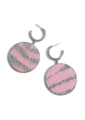 Topshop Rhinestone Disc Earrings