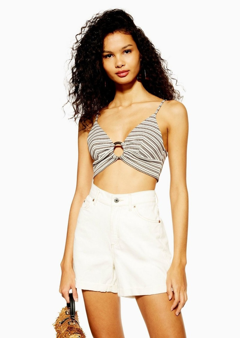 Topshop Ring Stripe Bralet