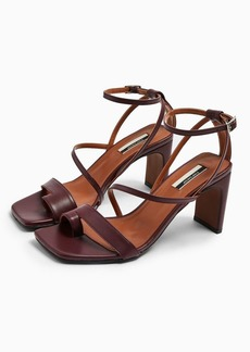 Topshop Rio Leather Plum Toe Loop Sandals