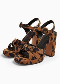 Topshop Ripple Leopard Print Platform Shoes