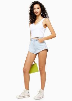 Topshop Roll Hem Kiri Denim Shorts