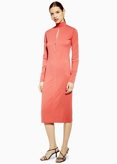 Topshop Roll Neck Midi Dress By Boutique