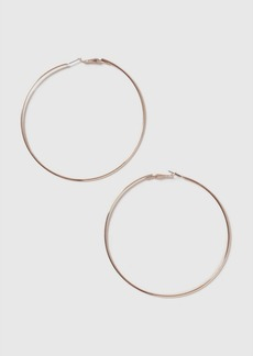 Topshop Rose Gold Large Hoop Earrings