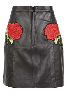 Rose Leather Skirt By Topshop Finds