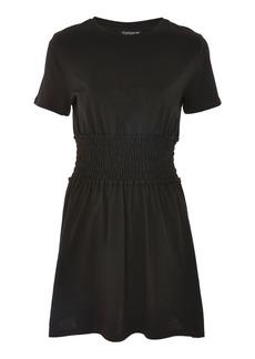 Topshop Ruched Waist Corset T Shirt Dress