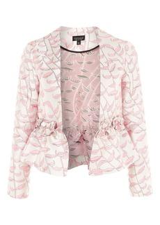 Ruffle Jacquard Jacket
