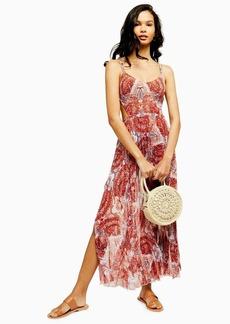 Topshop Rust Paisley Print Maxi Dress