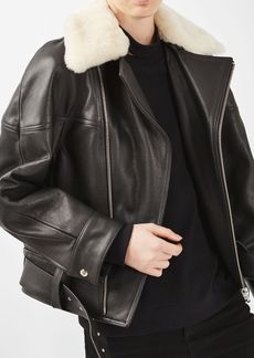 S Leather Aviator Jacket By Boutique