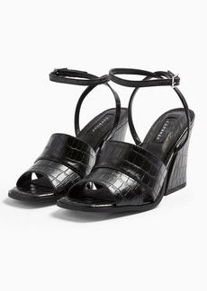 Topshop Saffron Crocodile Print Chunky Sandals