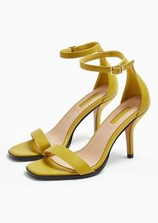 Topshop Sage Chartreuse Curve Mid Sandals