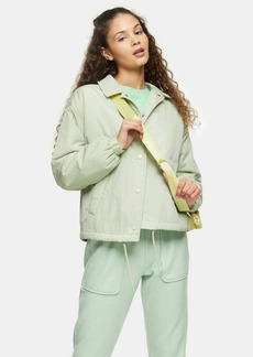 Topshop Sage Quilted Shell Jacket