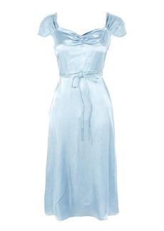 Topshop Satin Midi Dress