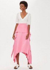 Topshop Satin Tie Skirt By Boutique