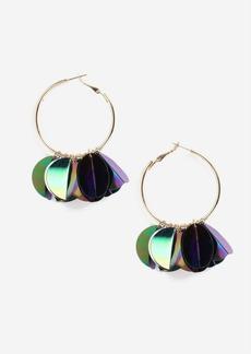 Topshop Sequin Cluster Hoop Earring
