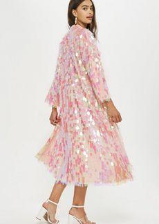 Topshop Sequin Maxi Kimono