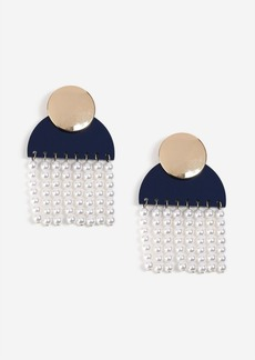 Topshop Shape And Pearl Drop Earrings
