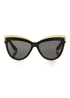 Sheldon Black Metal Detail Cateye Sunglasses