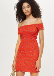 Topshop Shirred Ditsy Bodycon Dress