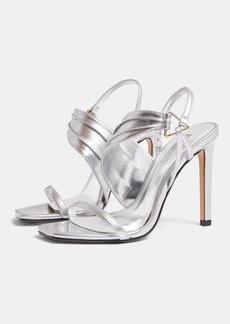 Topshop Shoes /Sandals /Renee Silver Ring Heels