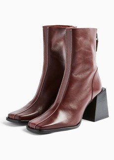 Topshop Shoes /Boots /Hades Leather Red Boots