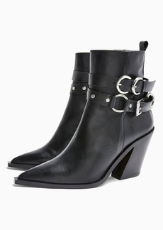 Topshop Shoes /Boots /Hadria Leather Black Western Boots