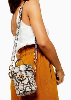 Topshop Shona Snake Barrel Cross Body Bag