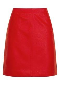 Short Pencil Pu Skirt