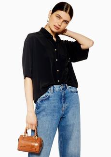 Topshop Short Sleeve Bowler Shirt