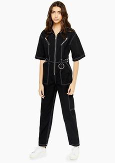 Topshop Short Sleeve Utility Boiler Suit