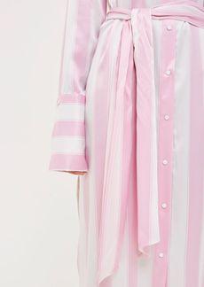 Topshop Silk Stripe Shirt Dress By Boutique