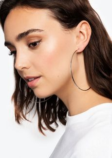 Topshop Silver Large Hoop Earrings