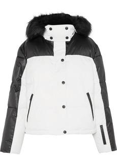 Topshop Siren Hooded Faux Fur-trimmed Ski Jacket