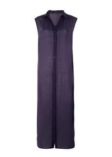 Topshop Sleeveless Maxi Beach Shirt Dress
