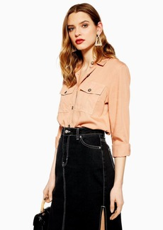 Topshop Slim Utility Shirt