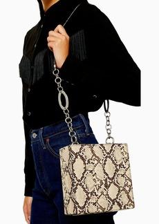 Topshop Snake Boxy Shoulder Bag