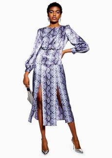 Topshop Snake Cutout Midi Dress