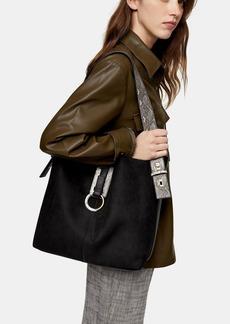 Topshop Soar Black Ring Hobo Bag