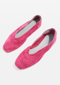Topshop Soft Leather Ballet Pumps