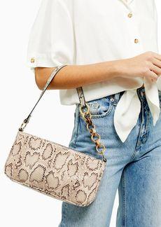 Topshop Spin Snake Shoulder Bag