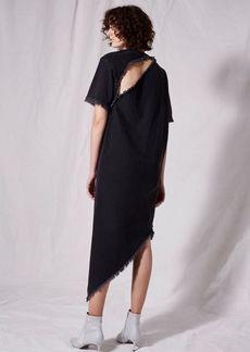 Spiral Denim Shift Dress By Boutique