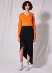 Topshop Spiral Denim Skirt By Boutique